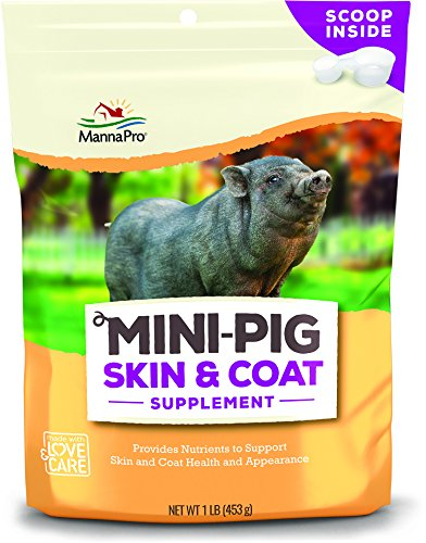 Manna Pro 1000961 Mini Pig Skin & Coat Supplement 1# Bag