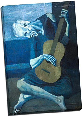 old guitarist canvas - 3