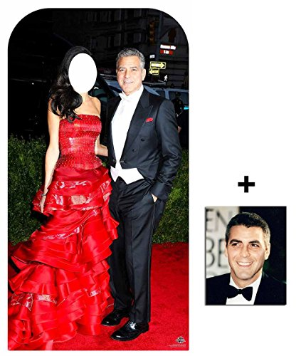 Fan-Pack-George-Clooney-Celebrity-Couple-Stand-In-Lifesize-Cardboard-Cutout-Standee-Includes-8x10-20x25cm-Photo