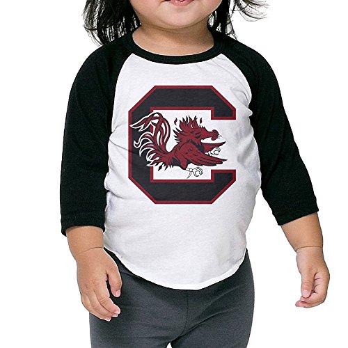 South Carolina Gamecocks Football Cocky Baby Boy Girl 3/4 Raglan T-shirt
