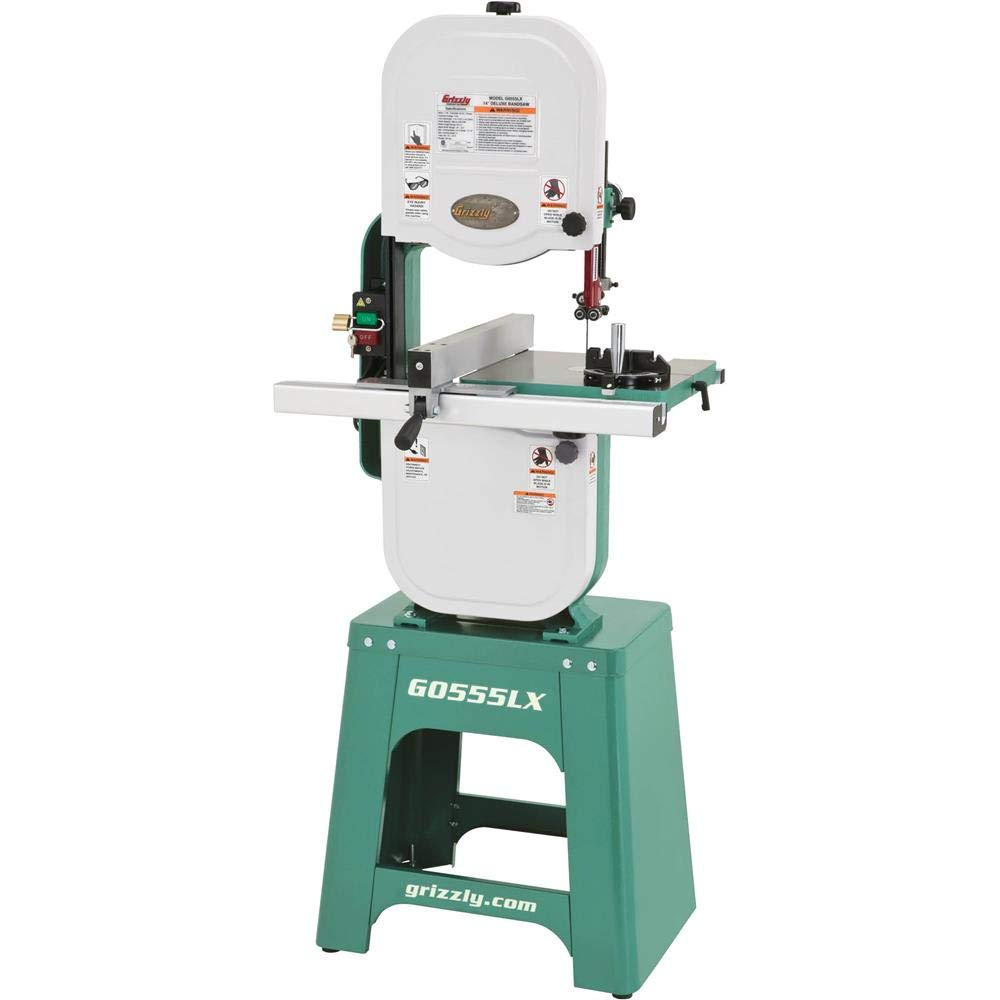 "Grizzly Industrial G0555LX - 14"" 1 HP Deluxe Bandsaw"