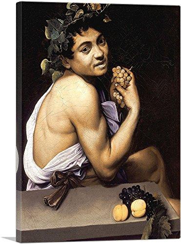 ARTCANVAS Young Sick Bacchus 1593 Canvas Art Print by Caravaggio - 36