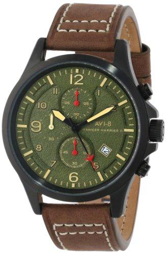AVI-8 Men's AV-4001-04 Hawker Harrier II Analog Japanese-Quartz Brown Watch