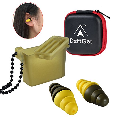 Ear Plugs High Fidelity livemusic Earplugs/2-in-1 Noise Cancell earbuds Shooting Protectors/Protection For Shooters/Construction/Sleeping/Concerts by deftget by deftget
