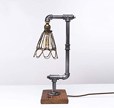 Loft estilo Lámpara de mesa,Estilo vintage industrial steampunk ...