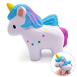 VSTON Unicornio Squishy Slow Rising  Jumbo Kawaii Squishy Toy Scenteze Squeeze Stress Relief para Niños Colección Squishies Girls Gift
