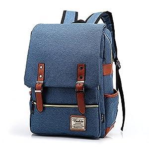 Unisex Professional Slim Business Laptop Backpack, Feskin Fashion Casual Durable Travel Rucksack Daypack (Waterproof Dustproof) with Tear Resistant Design for MacBook, Tablet
