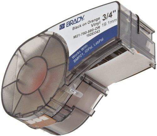 Label Portable Pal Printer Lab - Brady M21-750-580-OR 21' Length, 0.75