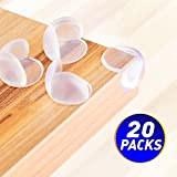Corner Protectors Edge Protectors & Corner Guards for Baby Proofing , 20 Packs Clear Corner Cushion Super Strong Furniture Corner Bumpers for Child Proofing