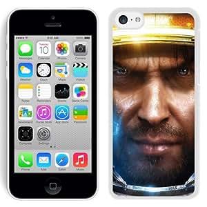 5C case,Starcraft Soldier Armor Helmet Face Look White iPhone 5c cover