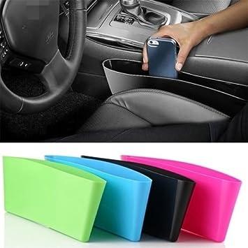 Grocery House Car Seat Catcher Gap Filler Organizer Side Slit Pocket Green