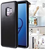 [ Monca ] Anti Gravity Cellphone Case [Black] Magical Nano Technology Stick to Wall, Glass, Whiteboards, Tile, Smooth Flat Surfaces (Goat case for Galaxy S9 Plus)