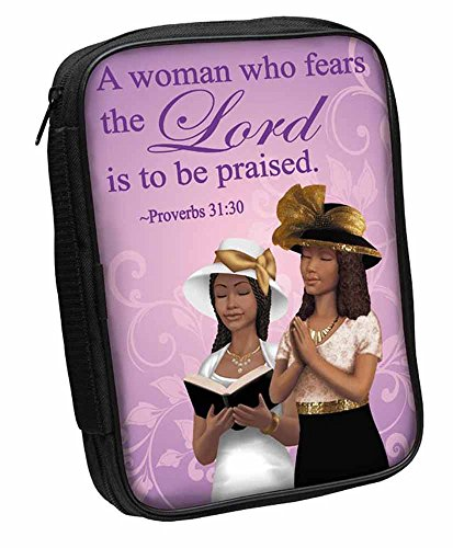 African Covers Bible (Proverbs 31:30 Woman Who Fears the Lord Bible Cover)
