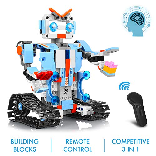 AOKESI Remote Control Robot DIY Building Blocks Educational Kit Engineering STEM Learning Toys Intelligent Gift for Kids (351 Pieces) by AOKESI (Image #1)