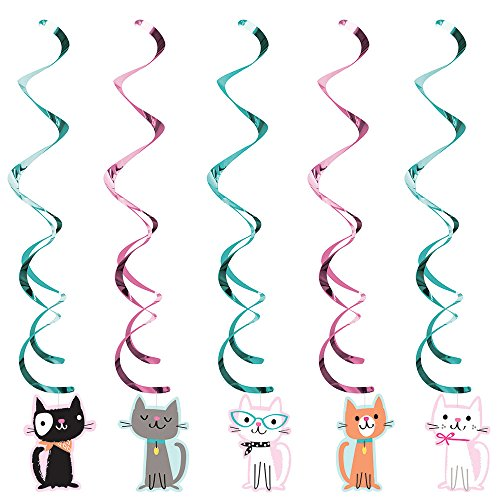 Purr-fect Party Hanging Swirls (5 ct)