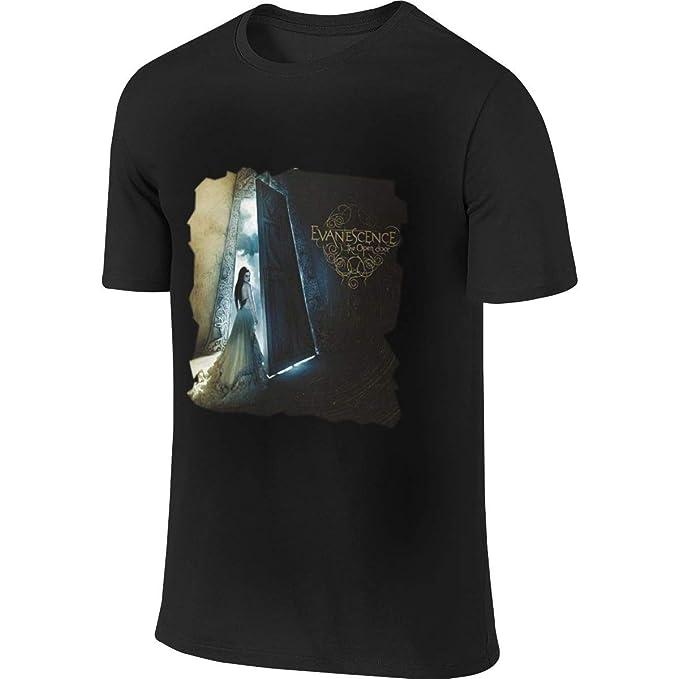 ACFUNEJRQ Evanescence The Open Door Mens Cotton Round Neck Short Sleeve T-Shirts