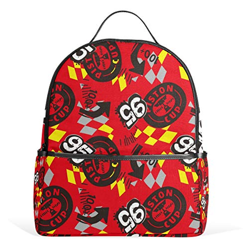 Price comparison product image Graffiti Tire Number Red Backpack School Bookbag Shoulder Bag For Boys Girls Travel Daypacks