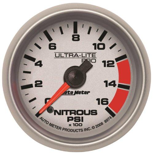 Ultra Lite Nitrous Pressure Gauge - Auto Meter 8974 Ultra-Lite Pro 2-1/16