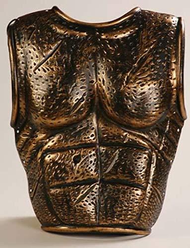 Forum 2-Piece Molded Spartan Costume Armor, Bronze, One