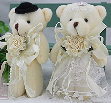 Mariée Et Marié Mariage Teddy Bear Peluche Jouets Idée De