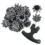HIFROM 18pcs Golf Spikes Softspikes Golf Shoe Spikes Scorpion Fast Twist TRI LOK Tri-Lok Cleats For FootJoy with Wrench