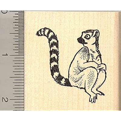 Lemur Rubber Stamp: Arts, Crafts & Sewing