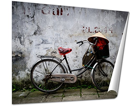 Ashley Giclee Fine Art Print, Bicycle Daily Life Hanoi, 16x20, - East Buy Best Colonial