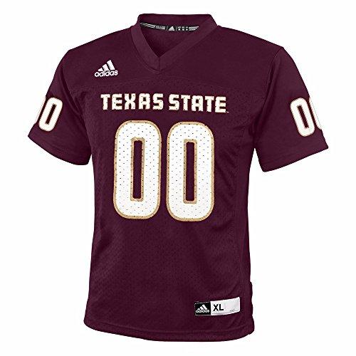 adidas Texas State Bobcats NCAA Maroon Official Home #00 Replica Football Jersey for Boys (7) ()
