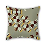 Slimmingpiggy Colorful Geometry Christmas Pillow Covers 20 X 20 Inches / 50 By 50 Cm For Seat Girls Festival Outdoor Couples Valentine With 2 Sides
