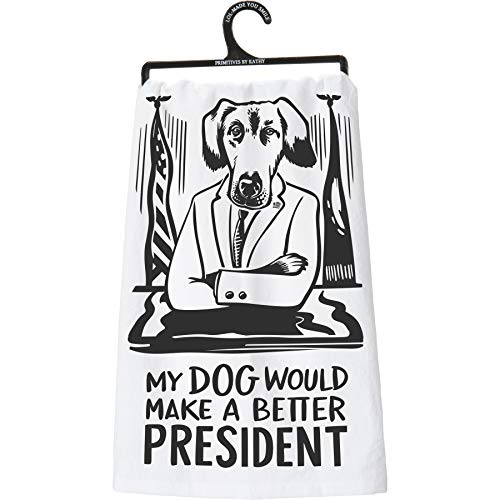 (Primitives by Kathy LOL Dish Towel, 28 x 28, Dog)