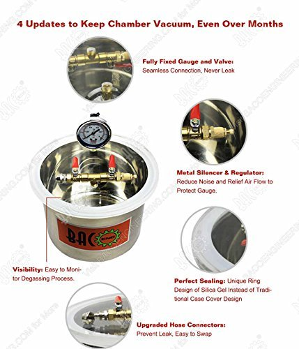 BACOENG 1 1/2 Gallon Vacuum Chamber Kit with 3.6 CFM 1 Stage Vacuum Pump HVAC by BACOENG (Image #6)