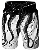 Best Octopus Bathing suits - Uideazone Men's 3D Octopus Printing Quick Dry Beach Review