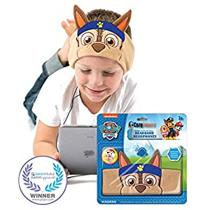 Paw Patrol Kids Headphones by CozyPhones – Volume Limited with Ultra-Thin Speakers & Comfortable Soft Fleece Headband – Perfect Children's Earphones for School, Home and Travel – Chase