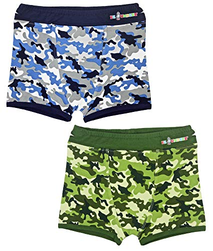 Ez Undeez Boys Boxers Toddler Training Underwear with Easy Pull Up Handles (4-5 Years, Camouflage)
