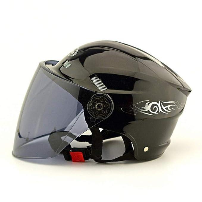 TZQ Casco De Moto Casco De Bicicleta Con Cáscara ABS Casco Unisex Semicubierto Ligero Transpirable,