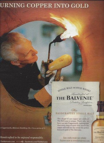 MAGAZINE AD For 2012 The Balvenie Single Malt Turning Copper Into Gold