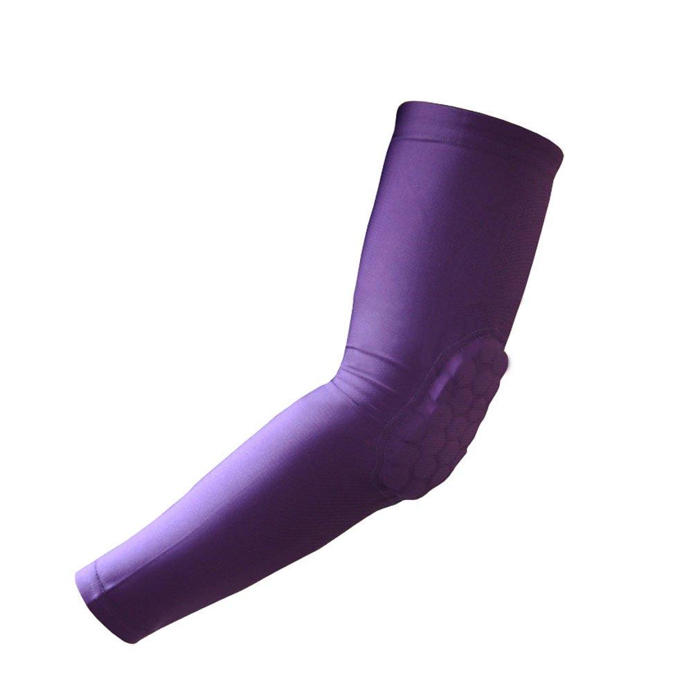 [パープル]コームパッド保護圧縮バスケットボールShooterスリーブ、サイズL B00K4U0XGC