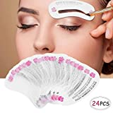 24 PCS Different Styles Eyebrow Shaping Stencils, Kalolary Eyebrow Grooming Stencil Kit Shaping