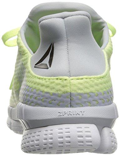 Reebok Womens Zprint Her Mtm Running Shoes Lemon Zest / Cloud Gray / White