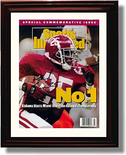 Framed Derrick Lassic 1992 Alabama Football National Champions Sports Illustrated Autograph Replica Print
