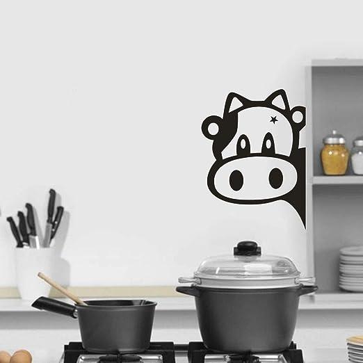 muzi928 Pegatinas de Animales de Dibujos Animados de Vaca Nevera ...