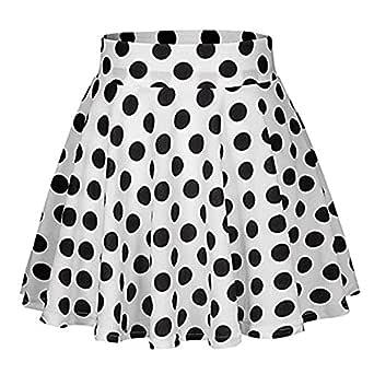 TIFIY Ropa de Mujer Falda Plisada Básica Corto Elástica Punto Moda ...