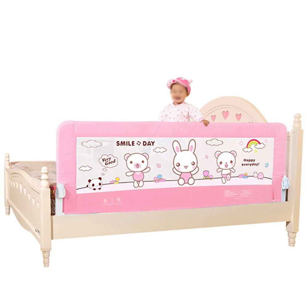 ベッドガードレールCribbedブレースベッドレール子供のガードレールベビーのShatterproofアンチフォールトバッフル1.5m / 1.8m、1サイド、ブルー/ピンク (色 : Pink, サイズ さいず : 1.8m) 1.8m Pink B07GV6FQTC