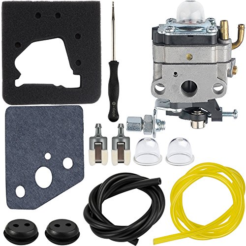 HIPA Carburetor + Carb Adjustment Tool Air Filter Fuel Filter for Honda GX22 GX31 Engine FG100 Tiller by HIPA