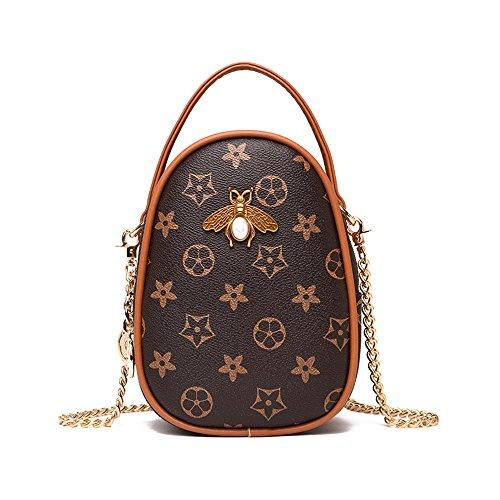 Olyphy Fashion Shoulder Bag for Women, Mini Bee Crossbody Messenger Bag Round Handbag with Tassel (flower)