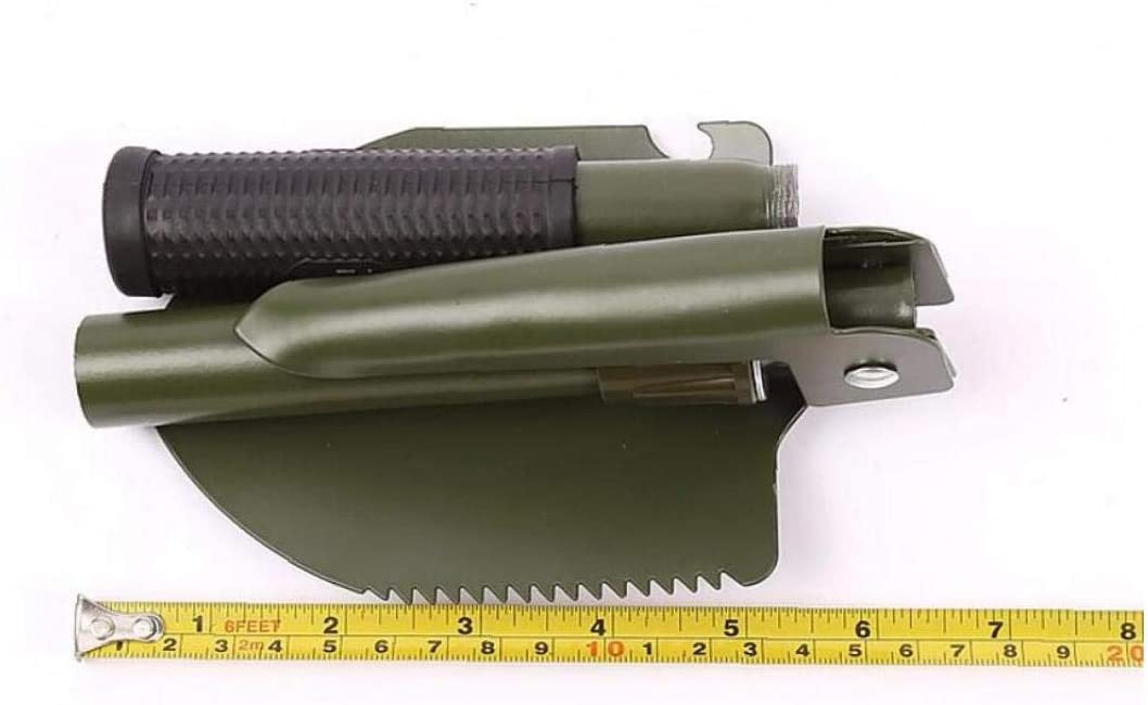 LAVALINK Compass Schaufel S/äge Folding Carbon Steel Spaten Outdoor-Camping-Werkzeuge