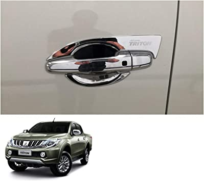 Door Handle Bowl Insert Cover Matte Black For Mitsubishi L200 Triton 2015 2018