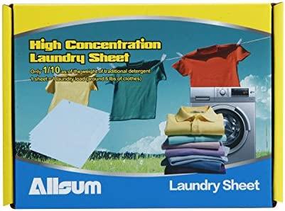 allsum hoja de lavandería detergente, fácil de transportar, 30 ...