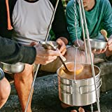 Solo-Stove-Campfire-2-Pot-Set-Combo-Compact-Wood-Burning-Rocket-Stove-Outdoor-Kitchen-Kit-for-Backpacking-Camping-Survival-Burns-Twigs-NO-Batteries-or-Liquid-Fuel-Gas-Canister-Required