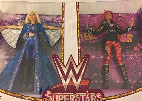 SDCC 2017 Exclusive WWE Superstars Sasha Banks and Charlotte Flair Doll Set by WWE